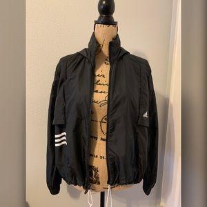 Adidas Black Windbreaker